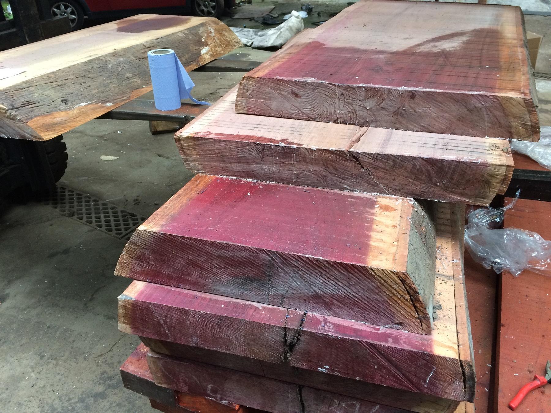 purpleheart slab