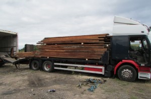 Lorry load of mopane